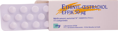 Ethinyl-oestradiol étui et blister