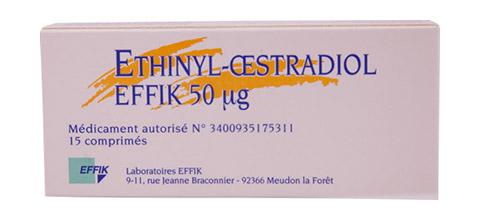 Ethinyl-oestradiol étui 15 comprimés