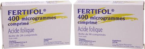 Fertifol étuis 28 et 90 comprimés